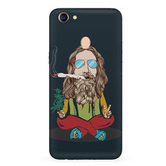 Baba Smoking Cigar design Oppo F7 hard plastic all side printed back cover
