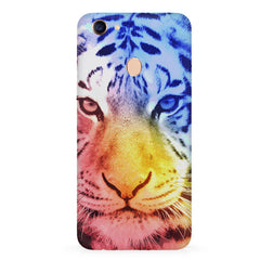 Colourful Tiger Design Oppo F7 hard plastic all side printed back cover