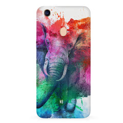 colourful portrait of Elephant Oppo F7 hard plastic all side printed back cover