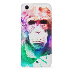 Colourful Monkey portrait Oppo F7 hard plastic all side printed back cover
