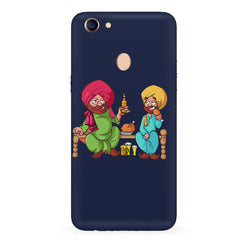 Punjabi sardars with chicken and beer avatar Oppo F7 hard plastic all side printed back cover