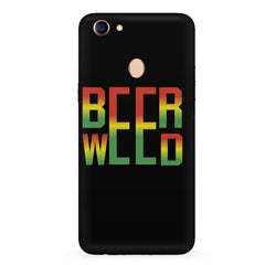 Beer Weed Oppo F7 hard plastic all side printed back cover