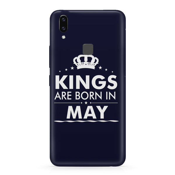 Kings are born in May design    Vivo X21 hard plastic printed back cover