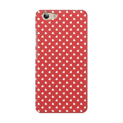 Cute hearts all over the cover design    Vivo Y53 hard plastic printed back cover