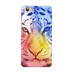 Colourful Tiger Design Vivo Y53 hard plastic printed back cover