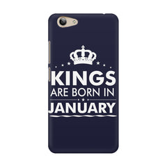 Kings are born in January design    Vivo Y53 hard plastic printed back cover