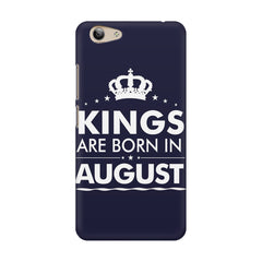 Kings are born in August design    Vivo Y53 hard plastic printed back cover