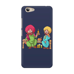 Punjabi sardars with chicken and beer avatar Vivo Y53 hard plastic printed back cover