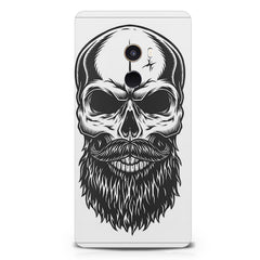 Skull with the beard  design,   Xiaomi Mi Mix 2 hard plastic printed back cover.