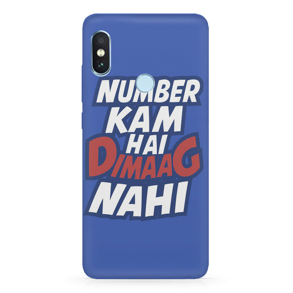 Number kam hai dimaag nahi quote design Xiaomi Mi A2 LIte/6 Pro hard plastic printed back cover