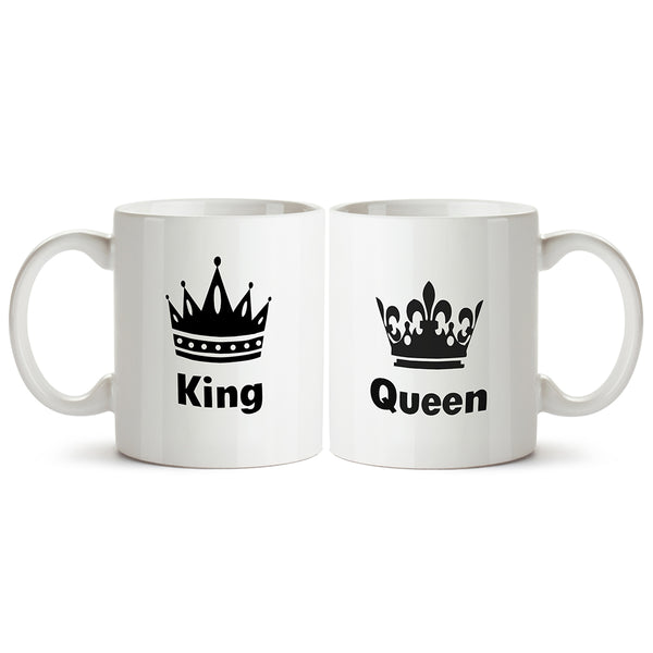 Couple designs - King and Queen. Couple gifts, anniversary gifts Printed Coffee Mugs