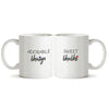 Adorable bhaiya and Sweet bhabhi - Couple gifts for your bhaiya and bhabhi Printed Coffee Mugs