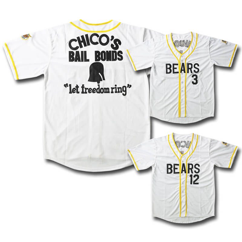 The Bad News Bears #12 Tanner Boyle Baseball Jersey Sewn Numbers S XL,XXL M L