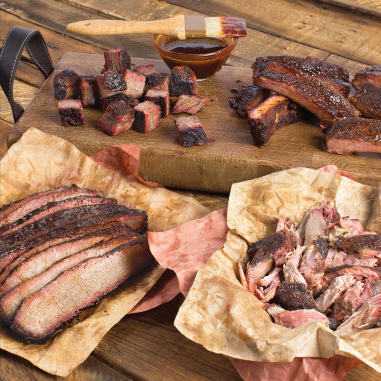 Meat Mitch – The WHOMP! Platter - Ribs, Burnt Ends, Sliced Brisket & Pulled Pork