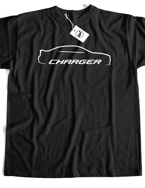 Charger Car Short Sleeve Cotton T-Shirt