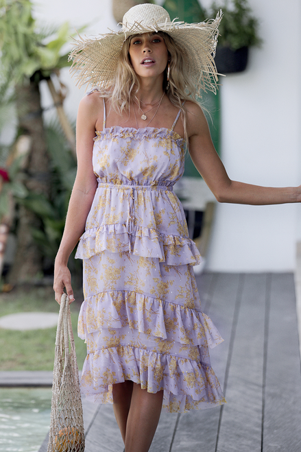 THE RAY OF SUNSHINE MIDI DRESS - You.