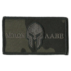 "MULTICAM-Black - Molon Labe Tactical Patch - 2"" x 3 1/2"""