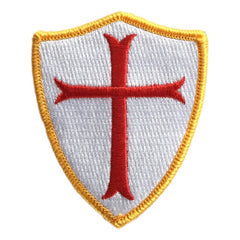 Crusader Cross Shoulder Patch - View Colors