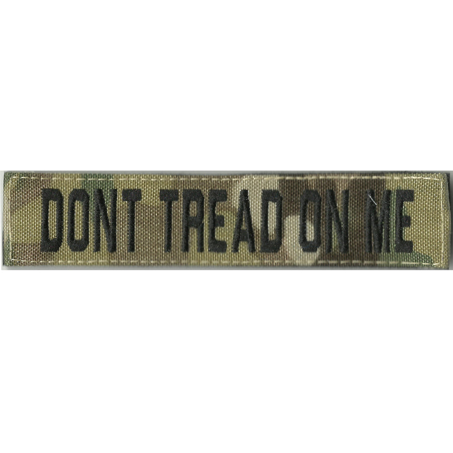 """DONT TREAD ON ME""  MULTICAM Name Tape - 1"" x 5"""