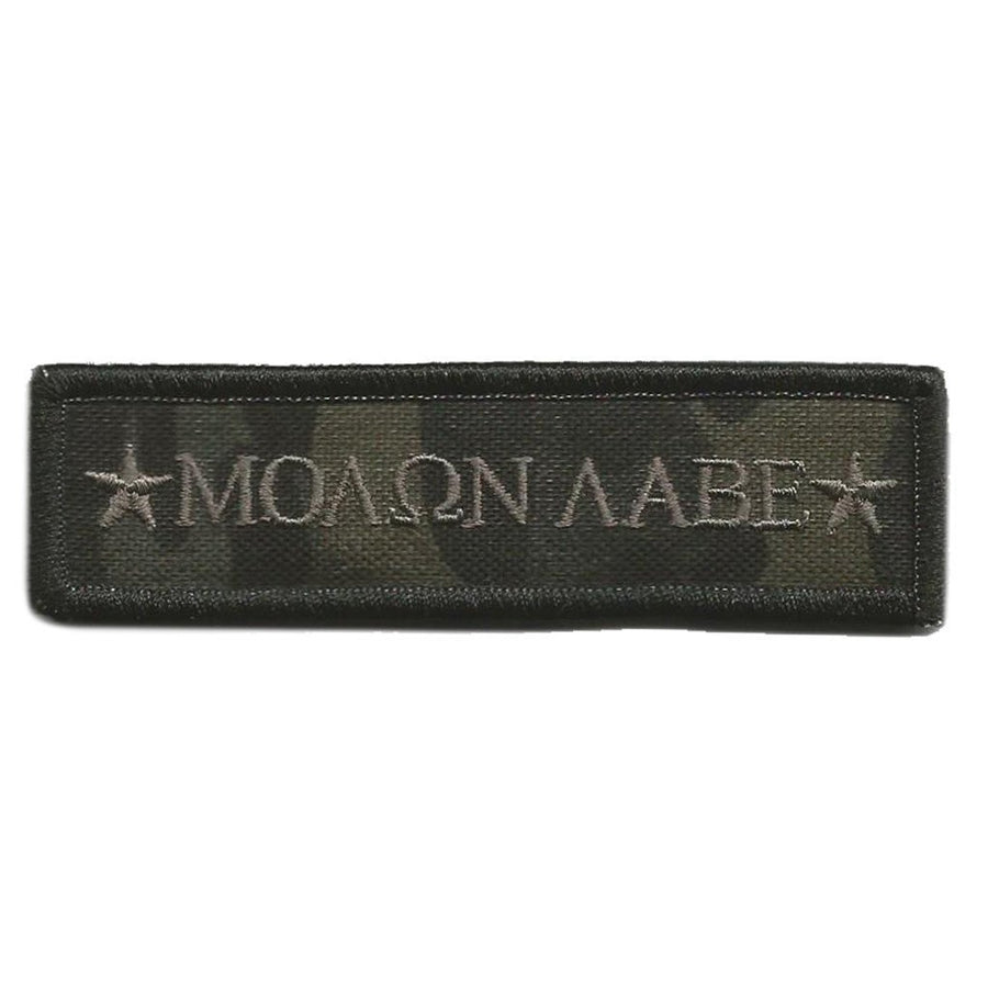 "MULTICAM-Black - Molon Morale Patch - 1"" x 3 3/4"""