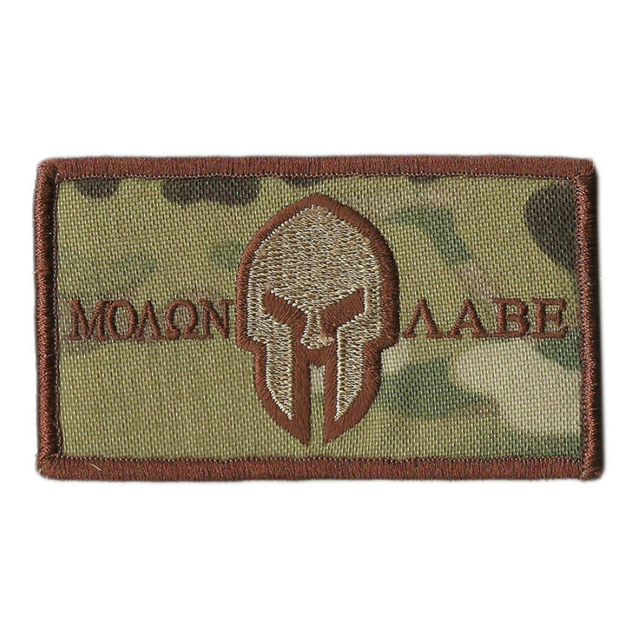 "MULTICAM - 2""x3"" Helmet Molon Labe Tactical Patch - Spice"