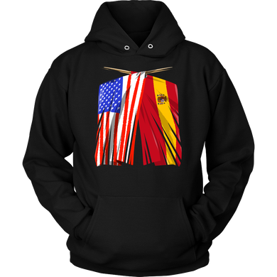 Spanish American Spain and America Pride Flag Hoodie