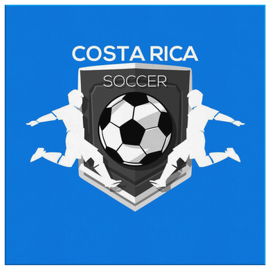 Costa Rican Soccer, Costa Rica Sports Flag Canvas