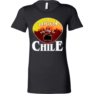 I Survived My Trip to Chile Skyline Vacation Bella Shirt