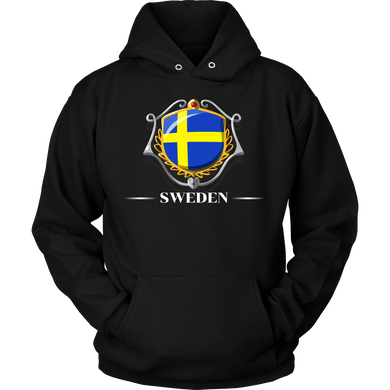 Sweden, Swedish Flag Colors, Pride, Country Gift Hoodie