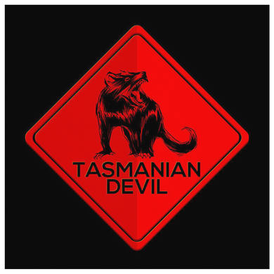 Australia Tasmanian Devil Highway Road Warning Sign Canvas