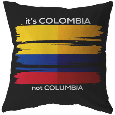 Colombia Pillow - Colombian Flag Travel Vacation Souvenir Pillow