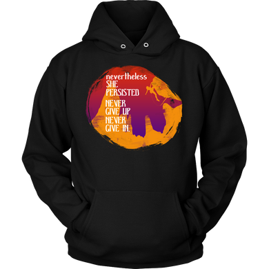 Never Give Up, Never Give In Motivational Quote Hoodie
