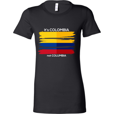 Colombia Bella T-shirt Colombian Flag Tee Travel Vacation Souvenir