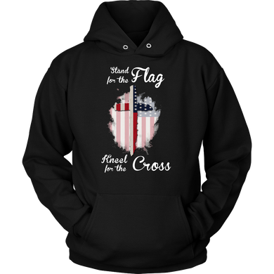 Stand For The Flag Kneel For The Cross Christian Hoodie