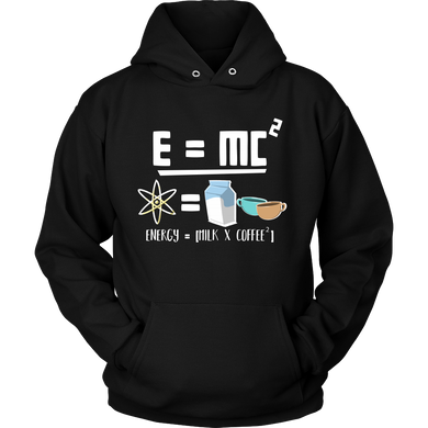 Energy = Milk and Coffee Cute Equation Hoodie for Coffee Lovers