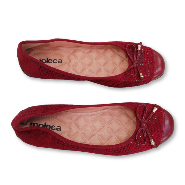 Moleca Women's  Flat Shoes Size EU 39 (UK 6)    Colour:Red