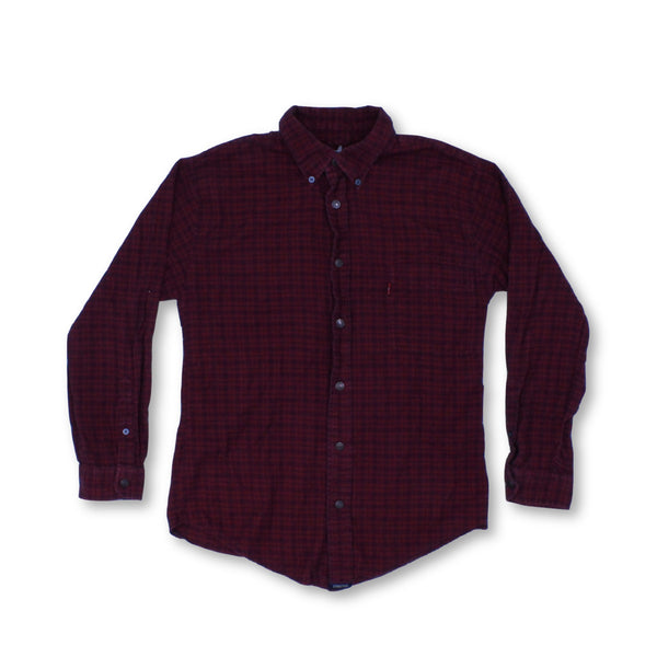Levi'S Men's Long Sleeve Shirt S   Collar: 17.5 Colour:Red