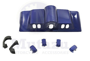 New Cobalt Blue Inner Fairing Cap kit w/ switch cap fit Harley FLHR FL Touring