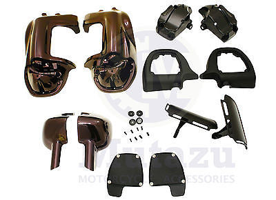 Mutazu Black Cherry Lower Vented Fairings for Harley Road King Street Glide FLHT