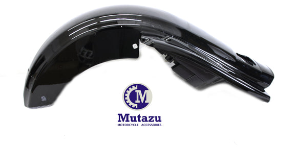 No Cut Out Black Rear CVO Style Fender System W/ light For Harley Touring Electra Glide 2009-2018