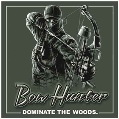 Bow Hunter Dominate the Woods Decal - Deer Shack