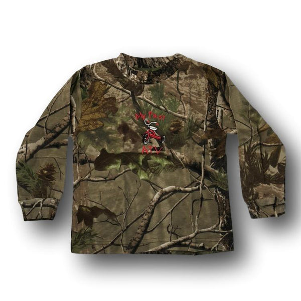 """My First ATV"" Little Hunter Camo Long Sleeve Tshirt - 18 Months - 2T - Deer Shack"