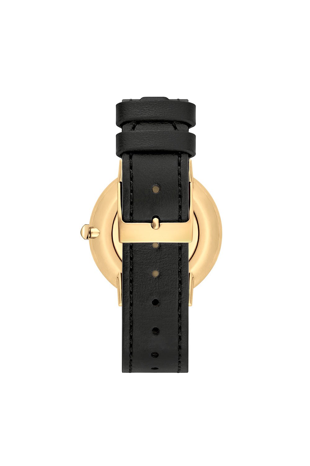 Major Gold Tone Pyramid Studded Leather Watch, 35MM