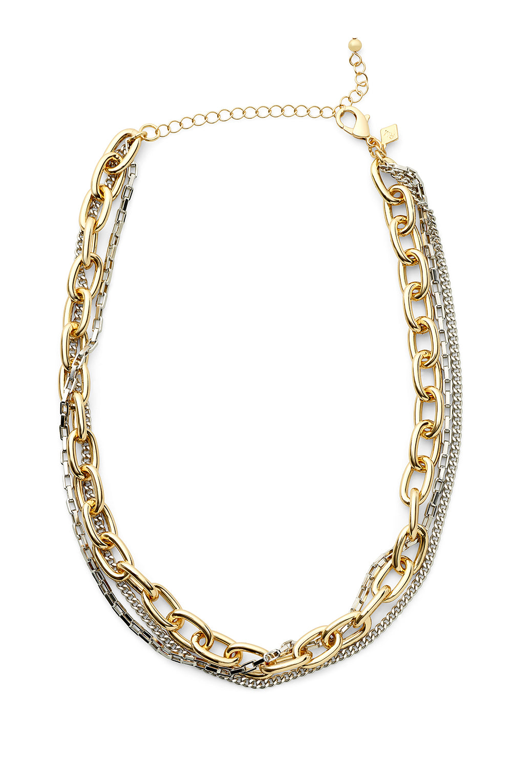 Tubular Multi Chain Short Necklace