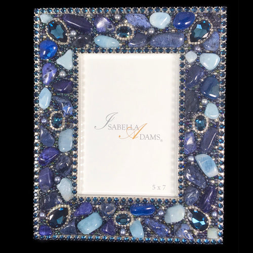5 x 7 Picture Frame Featuring Montana Blue Swarovski © Crystals and Gemstones