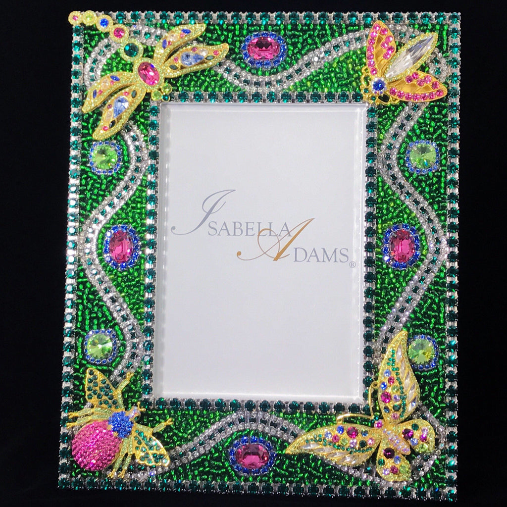 5 x 7 Emerald Bug Picture Frame Featuring Swarovski © Crystals