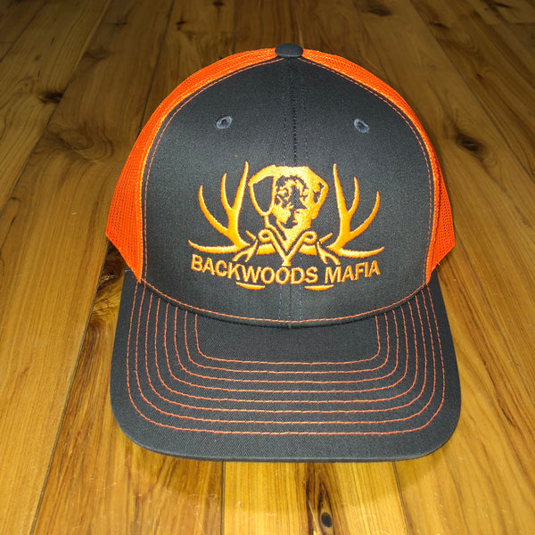 Charcoal/Neon Orange with Neon Orange Logo Snapback