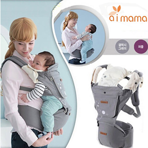 Aimama Multifunction Outdoor Kangaroo Baby Carrier Sling Backpack New Born Baby Carriage Hipseat Sling Wrap Summer and Winter - CheckaBaby