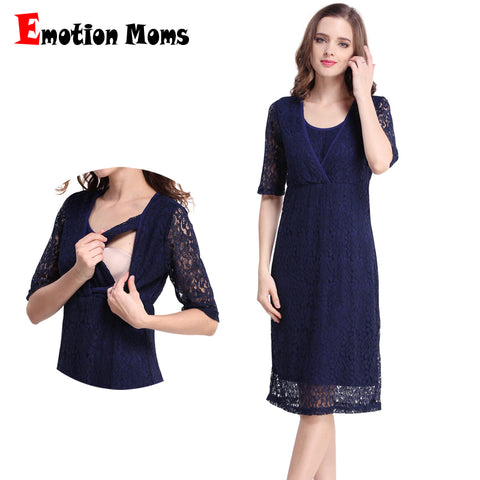 Emotion Moms Lace Maternity Dresses Breastfeeding for formal occasion and party - CheckaBaby