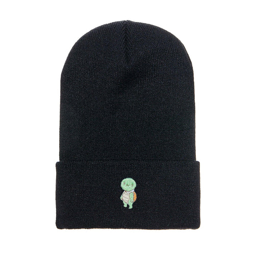 Turtle Amigo Embroidered Beanie Black